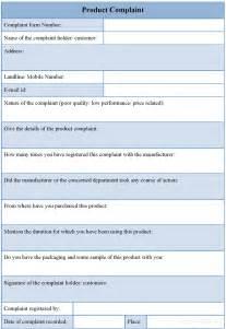 Product complaint form sample product complaint form sample forms