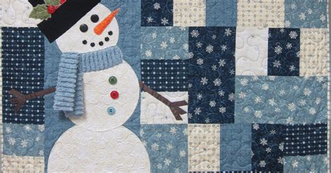 virtually vintage quilts snowman quilt