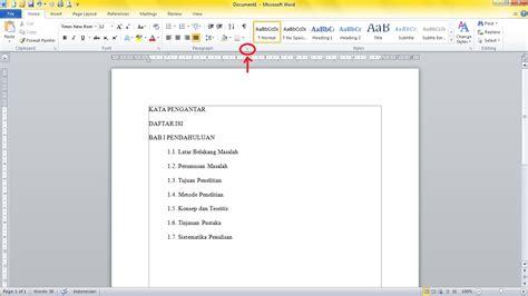 membuat garis dalam daftar isi membuat garis titik untuk daftar isi di microsoft word