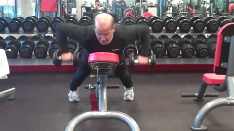 high bench two dumbbell rowing dumbbell high row on incline youtube