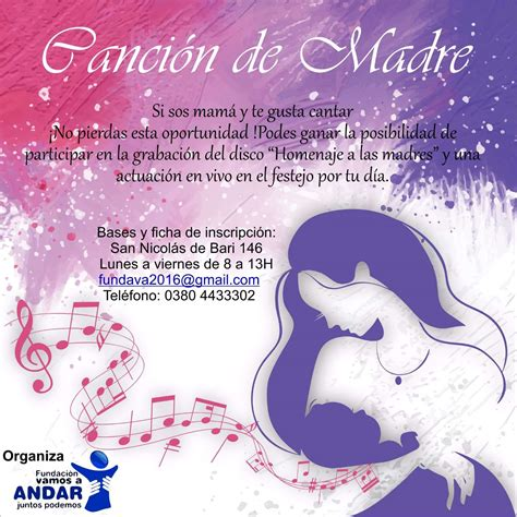 La Canci N Del D A De La Madre Song Of Mothers Day | contin 250 an las inscripciones para el concurso quot canci 243 n de
