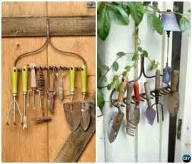 garden tool organizer storage diy ideas projects