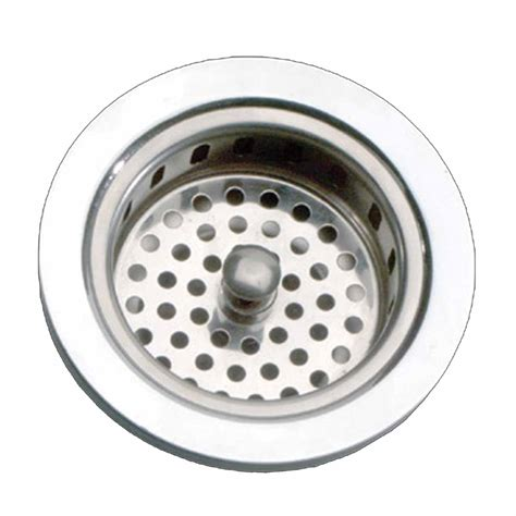 Kitchen Sink Strainer Basket Chrome Solid Brass 4 5 Quot Kitchen Sink Strainer