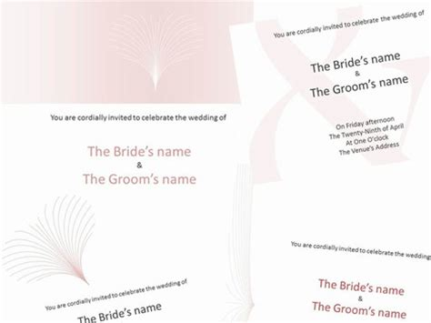 templates for powerpoint invitations pink wedding invitations