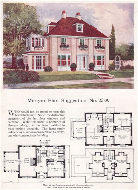 colonial revival house plans georgian revival or eclectic 1923
