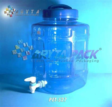 Galon 12 Ltr Dengan Keran jual galon plastik pet 10 liter biru c kotak keran pet527 harga murah jakarta oleh cv aryta