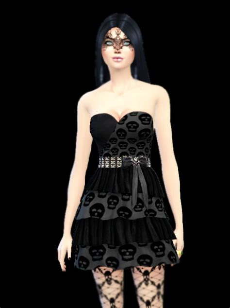 stockings masks and goth dress at simlife 187 sims 4 updates