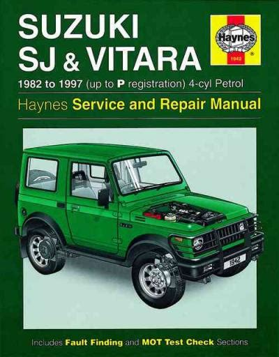 auto repair manual free download 1986 suzuki sj transmission control suzuki sj series sierra samurai and vitara 4 cyl petrol 1982 1997 uk sagin workshop car