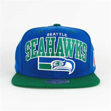seattle seahawks team colors seattle seahawks arch snapback mitchell and ness gray