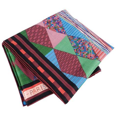 Silk Patchwork Scarf - hermes patchwork silk 140cm shawl scarf at