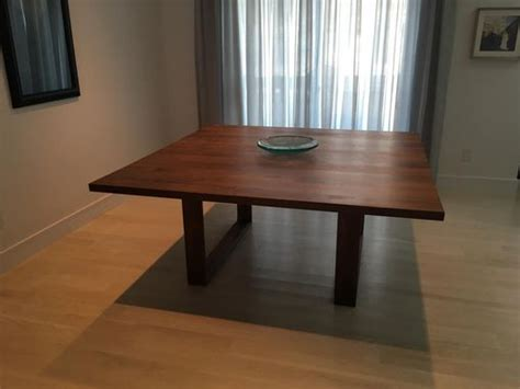 custom square modern dining table  puddle town