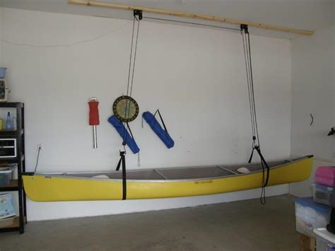 Kayak Garage Hoist by Closets For Canoe Hoist For Your Garage Up Up And