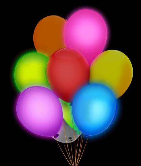 led light up balloons 5 of pack 12 quot led glow in the dark light up balloons