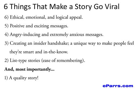 The Six Things That Make Stories Go Viral Will Amaze And | ways to make your story go viral