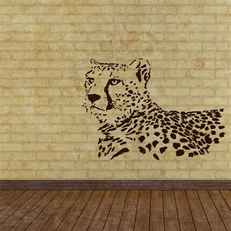 wall stencils leopard stencil large template  wall