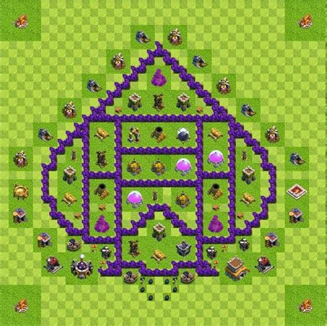 layout coc base 8 base layout town hall level 8 tipe farming coc indonesia