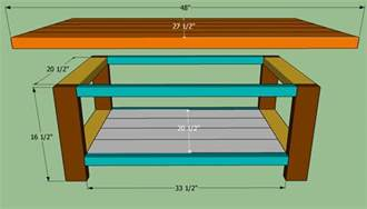Coffee Table Construction How To Make A Basic Coffee Table Plans Diy Free