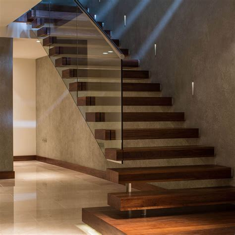 Floating Stairs Design Canal Floating Contemporary Staircase Swetha Home Floating Staircase Staircases