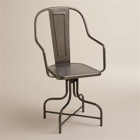 industrial metal desk chair celia metal swivel chair world market
