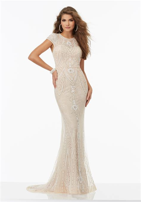 beaded prom dress fully beaded prom dress chantilly lace morilee