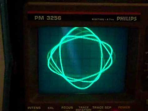 lissajous pattern youtube how to make lissajous figures on oscilloscope philips