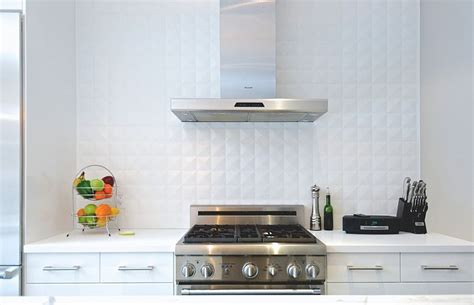 White Tile Backsplash Kitchen 25 Creative Geometric Tile Ideas That Bring Excitement To Your Home