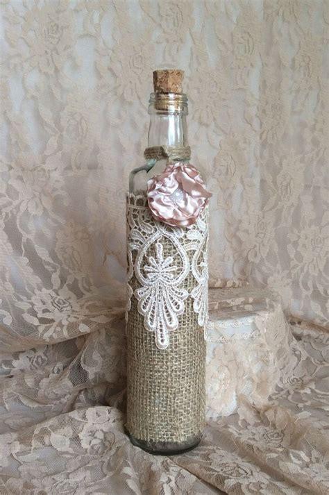 decorar garrafas de vidro renda garrafas decoradas renda 80 modelos e passo a passo