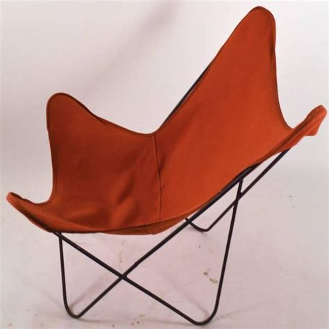 orange canvas butterfly chair hardoy butterfly chair with original orange canvas sling