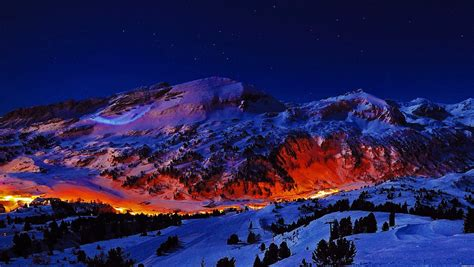 mountains night hd wallpapers desktop  mobile images