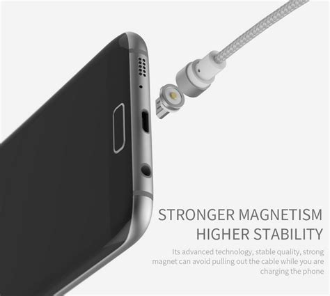 Kabel Charger Magnet Micro Usb Magnetic Cable wsken kabel charger magnetic micro usb lightning usb type c silver jakartanotebook