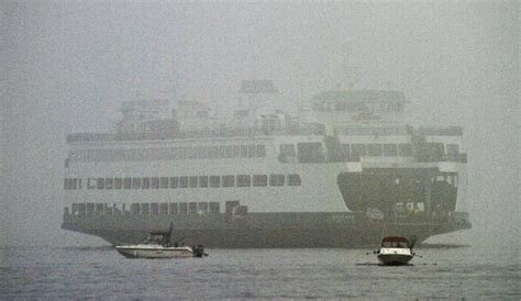 boat horn in fog a ferry boat in the fog the today file seattle times