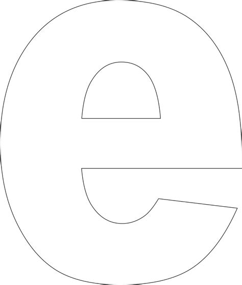 letter e template free printable lower alphabet letter template