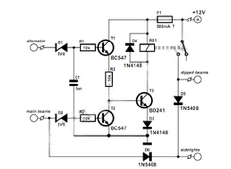 Switch Otomatis Ac Mobil rangkaian lu mobil otomatis gambar skema rangkaian