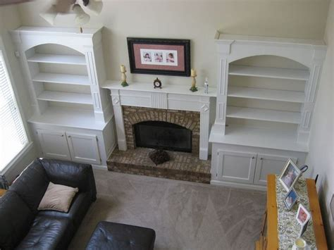 I Added Built In Bookshelves Around Fireplace In Living Fireplace Built In Bookshelves