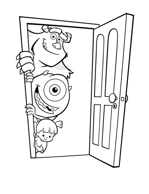 Monsters Inc Coloring Pages Coloringpages1001 Com Monsters Inc Coloring Pages