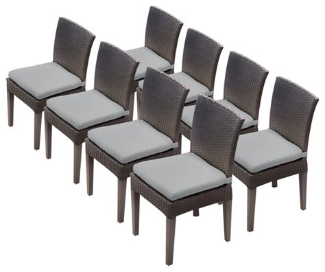 napa armless dining chairs tropical outdoor dining