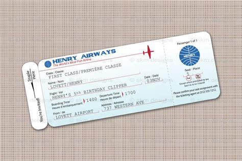 printable plane tickets modern airplane birthday party airline ticket invitation