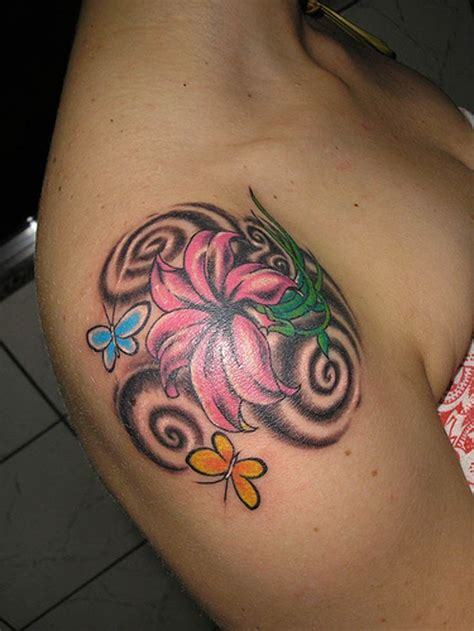 cross butterfly tattoo 17 best ideas about cross shoulder tattoos on