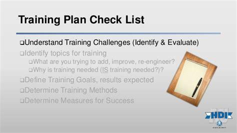 service desk training plan hdiau lab a building the service desk training plan