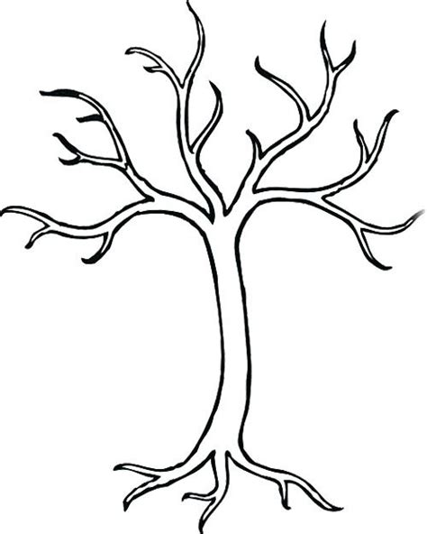 tree pattern without leaves coloring page tree bare tree without leaves coloring page tree pinterest