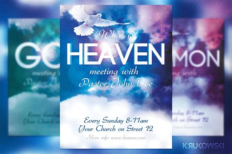 free church flyer template heaven church flyer flyer templates creative market