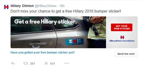 Free Bumper Stickers By Mail 2015