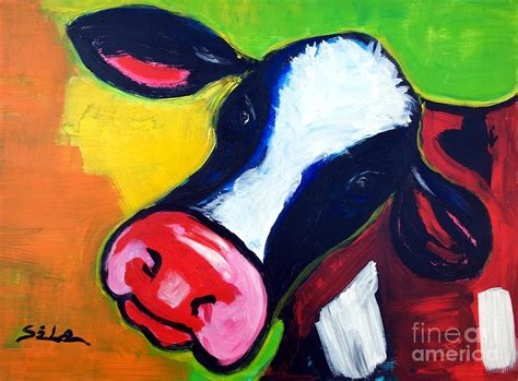 colorful cow painting colorful cow painting by lidija ivanek sila