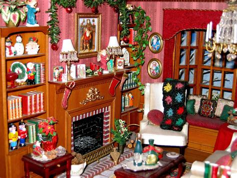 christmas doll houses christmas dollhouse multiple images inc close ups of miniature details for