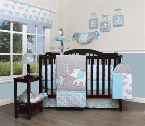 Next Crib Bedding Boutique Baby 13 Nursery Crib Bedding Set Blizzard Blue Grey Elephant Common Shopping