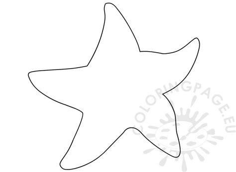 ocean animal printable starfish template coloring page
