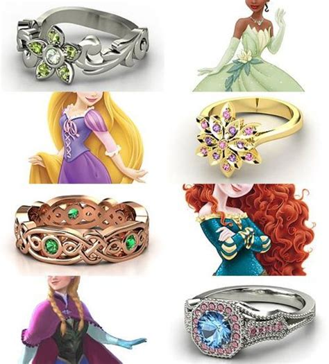 pin by inspired by disney rings inspired by the disney princesses part iii tiana