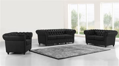 salons canap駸 canap 233 s cuir 2 ou 3 places mobilier cuir