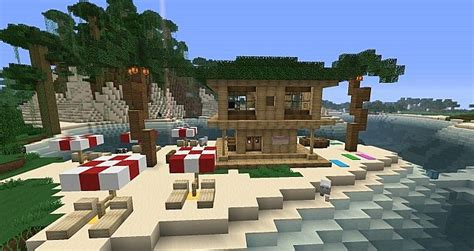 Minecraft Tiki Hut Related Keywords Amp Suggestions For Minecraft Beach