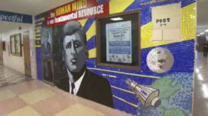 john f kennedy school remembering jfk s memory at chicago high school 171 cbs chicago